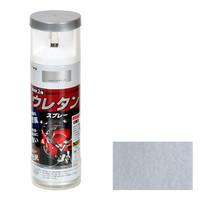 アサヒペン AP 2液ウレタンスプレー 300ML シルバーメタリック 9010271 (直送品)