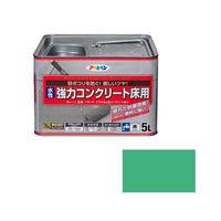 アサヒペン AP 水性強力コンクリート床用 5L ライトグリーン 9011103 (直送品)