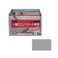 アサヒペン AP 水性強力コンクリート床用 5L ライトグレー 9011104 (直送品)