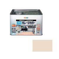 アサヒペン AP 水性ガレージカラー 5L サンドホワイト 9011137 (直送品)