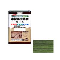 アサヒペン AP 木材防虫防腐ソート 14L グリーン 9011616 (直送品)