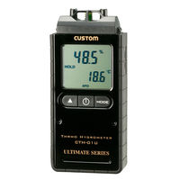 カスタム デジタル温湿度計 CTH-01U (直送品)