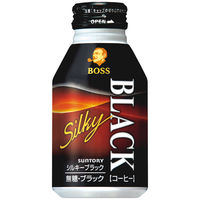 サントリー BOSS(ボス) シルキーブラック 無糖 ボトル缶 300g 1箱(24缶入)