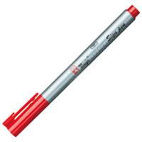 寺西化学工業 ラッションサインペン 赤 MRSSーT2 10本 (直送品)