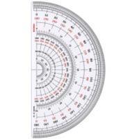 TTC コンサイス 半円分度器 Sー18 18cm 3枚 (直送品)
