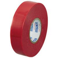 セキスイ ビニールテープ V360R02 20m 赤 5巻 (直送品)