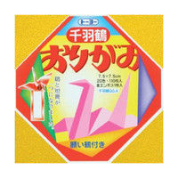 トーヨー 千羽鶴用おりがみ 7.5cm 111枚入 002002 8冊 (直送品)