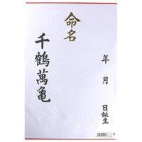 マルアイ 命名紙 大 3枚入 メイー1 5パック (直送品)