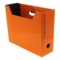 エトランジェ・ディ・コスタリカ ファイルボックス A4 オレンジ SLD2-51-05 3冊 (直送品)