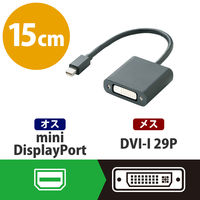 エレコム miniDisplayPort変換アダプタ DVI ブラック AD-MDPDVIBK (直送品)