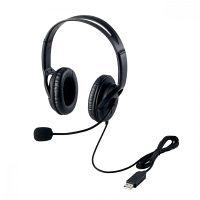 エレコム USBヘッドセット(両耳大型オーバーヘッドタイプ) HS-HP28UBK (直送品)