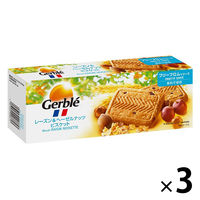 Gerble(ジェルブレ) レーズン&ヘーゼルナッツビスケット 1セット((5枚×4袋入)×3箱) 大塚製薬 栄養補助食品