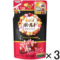 【アウトレット】P&G ボールド濃蜜コンパクト ルビーフローラルの香り つめかえ用320g 1セット(3個:1個×3)