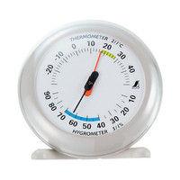 温湿度計 Q-2 丸型 10cm ライトグレー 70497 1セット(10個) シンワ測定 (直送品)