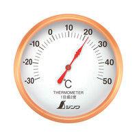 温度計 S-1 丸型 10cm 72689 1セット(10個) シンワ測定 (直送品)