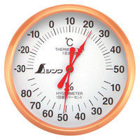 温湿度計 U-1 丸型 10cm 72691 1セット(10個) シンワ測定 (直送品)