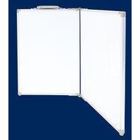 ホワイトボード折畳式 OAW 45x60cm 無地 横 77741 シンワ測定 (直送品)