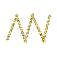 ファイバー折尺 5折 1m 併用目盛 78623 1セット(10個) シンワ測定 (直送品)