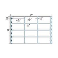 タックフォームラベル(剥離紙ブルー) NT15EB 1箱(500折) 東洋印刷 (直送品)