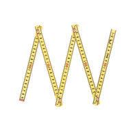 ファイバー折尺 5折 1m cm表示 78605 1セット(10個) シンワ測定 (直送品)