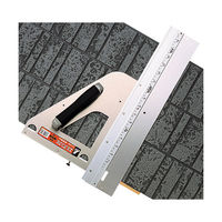 丸ノコガイド定規 エルアングル 45cm 併用目盛 補助板付 77899 シンワ測定 (直送品)