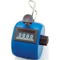 数取器 C プラスチック製 手持型 ブルー 75090 1セット(10個) シンワ測定 (直送品)