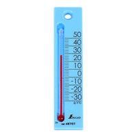 温度計 プチサーモ スクエア たて 12cm ブルー 48707 1セット(20個) シンワ測定 (直送品)