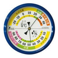 温湿度計 F-4m 生活管理 丸型 10cm ブルー 70508 1セット(10個) シンワ測定 (直送品)