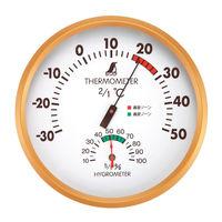 温湿度計 F 丸型 15cm 72591 1セット(5個) シンワ測定 (直送品)