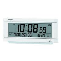 SEIKO(セイコークロック) スペースリンク 衛星電波 置き 時計 温湿度表示付 GP501W 1個 (直送品)