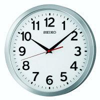 SEIKO(セイコークロック) オフィスタイプ 電波 掛け 時計 KX227S 1個 (直送品)