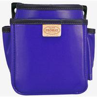 プロマックス 電工腰袋(2段・小) バイオレットブルー PM-DE2SB 1セット(4個) TJMデザイン (直送品)