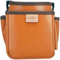 プロマックス 電工腰袋(2段・小) ブラウン PM-DE2S 1セット(4個) TJMデザイン (直送品)
