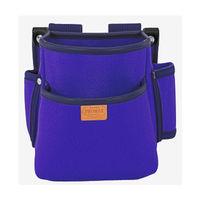 プロマックス 電工腰袋(2段・大) バイオレットブルー PM-DE2B 1セット(4個) TJMデザイン (直送品)