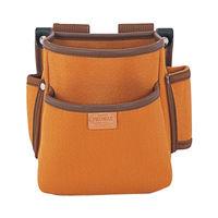 プロマックス 電工腰袋(2段・大) ブラウン PM-DE2 1セット(4個) TJMデザイン (直送品)