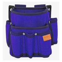 プロマックス 電工腰袋(2段・大/工具差し付) バイオレットブルー PM-DE2KB 1セット(4個) TJMデザイン (直送品)