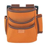 プロマックス 電工腰袋(3段・大) ブラウン PM-DE3 1セット(4個) TJMデザイン (直送品)