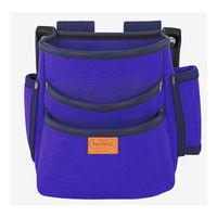 プロマックス 電工腰袋(3段・大) バイオレットブルー PM-DE3B 1セット(4個) TJMデザイン (直送品)