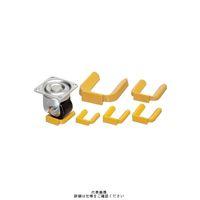 内村キャスター販売 キャスター用車輪 重量用キャスターホルダー NO.4H 1セット(100個) (直送品)