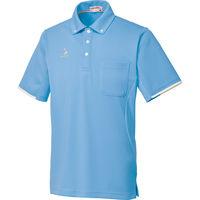 ルコックスポルティフ 介護ユニフォーム ボタウンダウンシャツ UZL3052 ブルー S 1枚 (直送品)