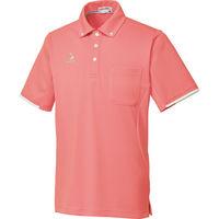 ルコックスポルティフ 介護ユニフォーム ボタウンダウンシャツ UZL3052 ピンク LL 1枚 (直送品)