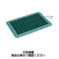 テラモト(TERAMOTO) 玄関マット カラーブラッシュ ライトグレー ふち付 600×900 MR-096-240-6 1枚 (直送品)