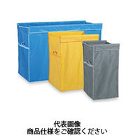 テラモト(TERAMOTO) 清掃カート システムカート ワイド(袋E) 180L 灰 DS-579-061-6 1個 (直送品)