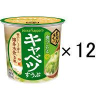 ポッカサッポロ 素材屋すうぷキャベツスープカップ 12個