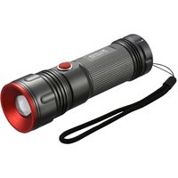 オーム電機 LED懐中電灯 IPX4 380lm 単3×3本 ズーム 調光 点滅機能 RadiusZ LHA-Z38A5(直送品)