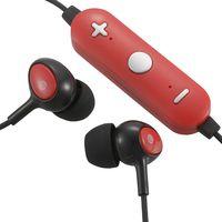 オーム電機 AudioComm Bluetoothステレオイヤホン コントローラー付 レッド HP-WBT150Z-R (直送品)