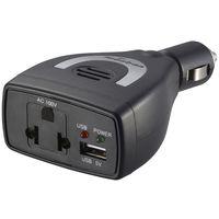 オーム電機 monban 車載用ACインバーター 60W USBポート付 OSE-DA060U05-K(直送品)