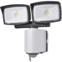 オーム電機 LEDセンサーライト 2灯 コンセント式 OSE-LS2200(直送品)