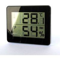 デジタル温湿度計 ブラック DO01BK ヤザワコーポレーション (直送品)