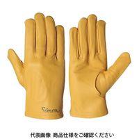 シモン(Simon) 牛本革手袋 CG-714Y 4131730 1セット(10双)(直送品)
